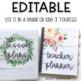 Farmhouse Lesson Plan Book (editable)