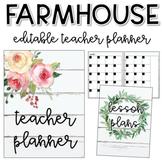 Farmhouse Teacher Planner (editable)
