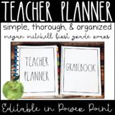 Farmhouse Lesson Planner 2019- 2020 Lifetime Updates