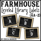 Farmhouse Leveled Library Labels: AA through Z