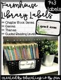Farmhouse Library Labels - Editable