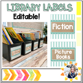Library Labels- Editable