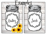 Farmhouse Mason Jar Labels