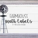 Farmhouse Math Labels