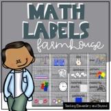 Wooden Farmhouse Math Manipulatives Labels