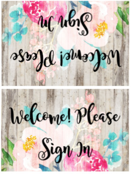 Farmhouse Meet The Teacher Table Tent Signs By Hot Off The Desk TpT - Table tent signs