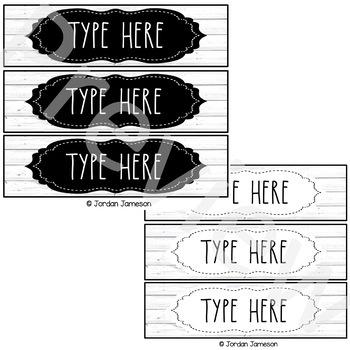Farmhouse Mini Sterilite Drawer Labels: Dunn Inspired