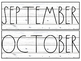 Farmhouse Months of the Year Labels