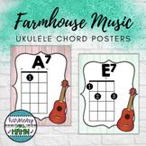 Farmhouse Music Classroom Ukulele Chord Posters