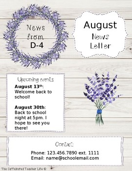 Farmhouse News Letter Editable