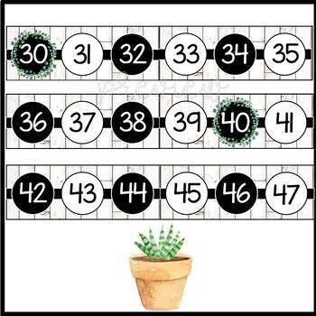 Farmhouse Number Line 0-200