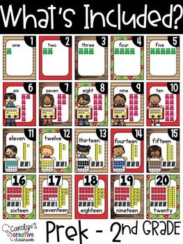 Farmhouse Number Posters (Set #2) - Farmhouse Classroom Decor