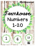 Farmhouse Numbers 1-20