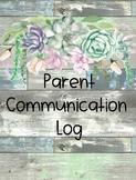 Farmhouse Parent-Teacher Communication Log