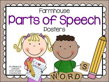 Farmhouse Parts of Speech posters