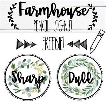 Farmhouse Pencil Signs