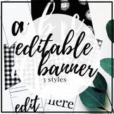 SIMPLE FARMHOUSE DECOR - Editable Banner