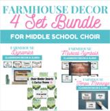 Farmhouse Poster/Slideshow/Binder Cover Set Bundle for Mid