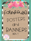 Farmhouse Posters and Banners Set 1