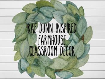 Farmhouse Rae Dunn Inspired Classroom Theme