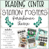 Reading Centers - Station Posters - Farmhouse Theme