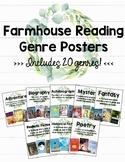 Farmhouse Reading Genre Posters