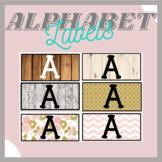 Farmhouse Rustic Alphabet Rectangular Labels and Blank Editable Word Wall Cards