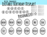 Farmhouse, Rustic Birthday Board - Editable!