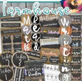 Farmhouse Rustic Chalkboard and Burlap Shabby Chic Classroom Decor Bundle