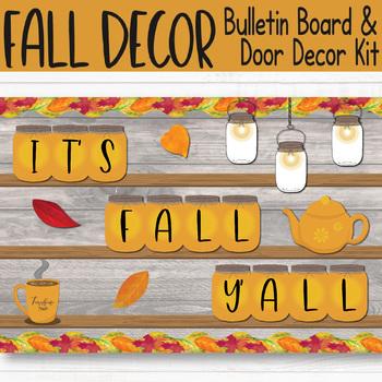 Autumn Farmhouse Bulletin Board (Editable Mason Jar)
