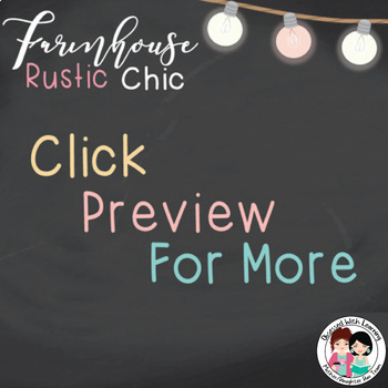 Farmhouse Rustic Chic (Editable) Banners, Table Toppers, or Center Labels