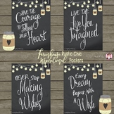Farmhouse Rustic Chic Inspirational Quotes Posters