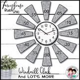 Farmhouse Classroom Decor Windmill Clock (EDITABLE)