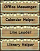 Farmhouse Rustic, Classroom Jobs Bulletin Board & Student Number Cards