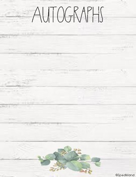 Farmhouse Rustic Memory Yearbook