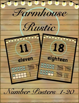 Farmhouse Rustic Number Posters 1-20