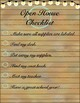 Farmhouse Rustic, Open House Checklist with Supply Collecting Labels
