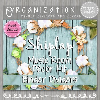 Binder Dividers and Covers Shiplap Music Room Decor