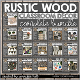 Farmhouse Rustic Wood Classroom Decor BUNDLE
