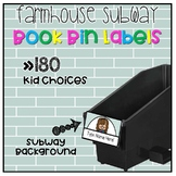 Farmhouse SUBWAY Book Bin Labels | Name Tags | Reading Labels {EDITABLE}