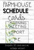 Farmhouse Schedule Cards- Editable