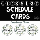 Farmhouse Schedule Cards