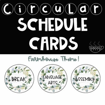 Farmhouse Schedule Cards