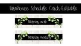 Farmhouse Schedule Cards-Editable