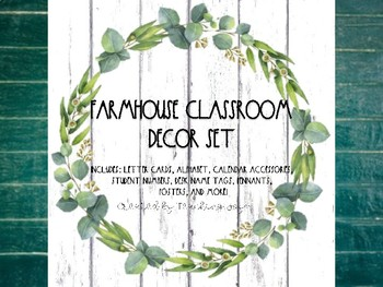 Farmhouse Shabby Chic Classroom Decor