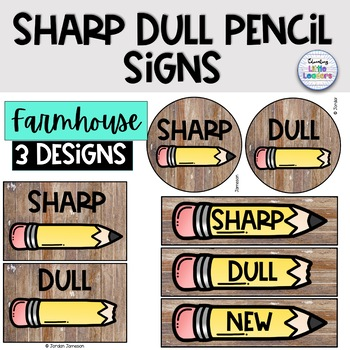Farmhouse Sharp and Dull Pencil Labels