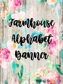 Farmhouse Shiplap Alphabet Banner