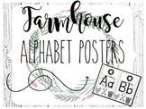 Farmhouse Shiplap Alphabet Posters