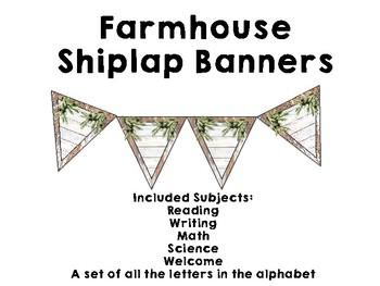 Farmhouse Shiplap Banners