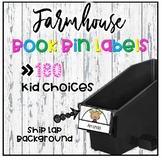 Farmhouse Shiplap Book Bin Labels | Name Tags | Reading Labels {EDITABLE}